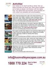 Pricelists of Huon Valley Escapes