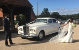 LWB Silver Cloud Rolls Royce Elegance Wedding Cars Wedding Car Hire London Elmcroft Avenue