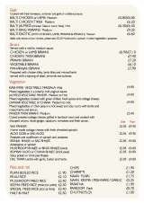 Menus & Prices, Cinnamon Bridgend, Broadlands