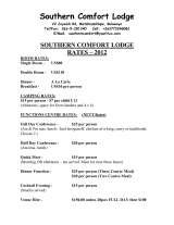 Pricelists of Southern Comfort Lodge