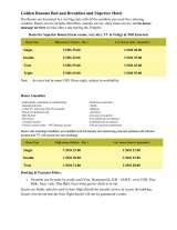 Pricelists of Golden Banana B&B and Superior Hotel