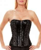 Black PVC corset - studs , Corsetera Ltd, London