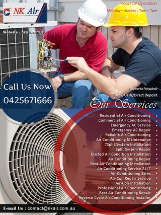 NK Air Pty Ltd Heating And Air Conditioning | Melbourne