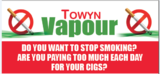 Towyn Vapour the old pizza box, towyn road
