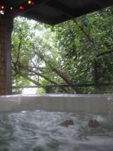 The large hot tub in the garden for your exclusive use. Victoria's Last Resort 3003 Ardath Drive