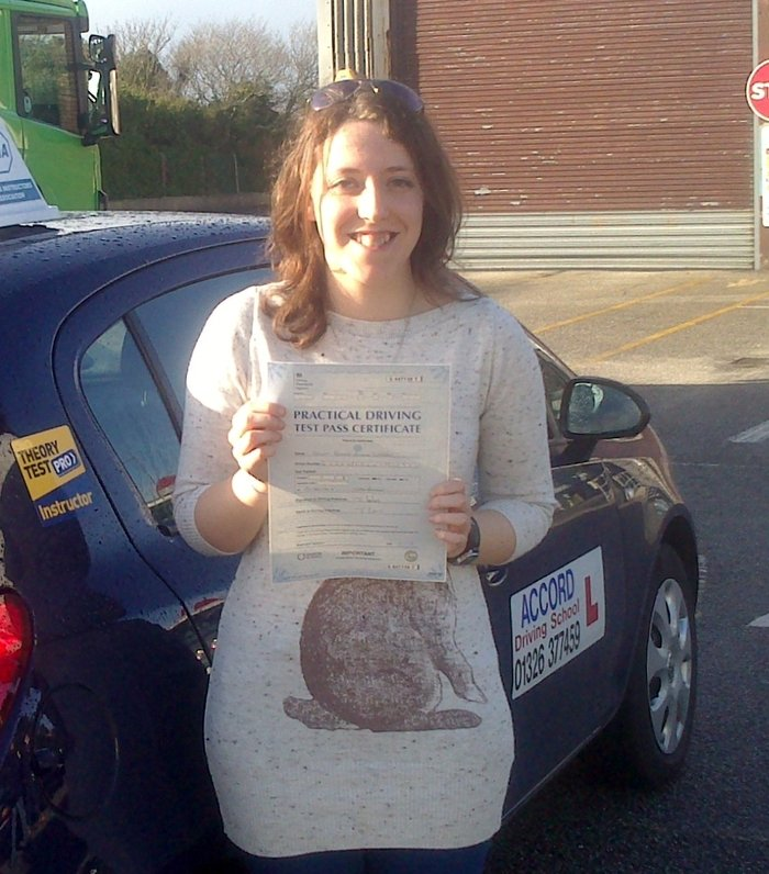 Sarah passing her driving test 1st time with Accord Driving School Falmouth Profile Photos of Accord Driving School 7 Woodside - Photo 14 of 19