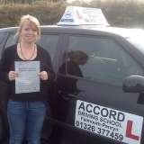 Megan passing her driving test 1st time with Accord Driving School Falmouth Accord Driving School 7 Woodside