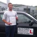 Jimmy passing his driving test 1st time with Accord Driving School Falmouth Accord Driving School 7 Woodside