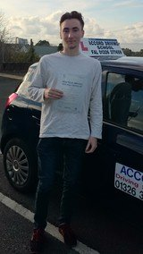 Leo passing his driving test 1st time with Accord Driving School Falmouth Accord Driving School 7 Woodside