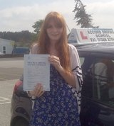 Molly passing her driving test 1st time with Accord Driving School Falmouth Accord Driving School 7 Woodside