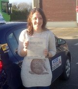 Sarah passing her driving test 1st time with Accord Driving School Falmouth