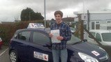Sam passing his driving test with Accord Driving School Falmouth