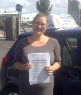 Charlee passing her driving test with Accord Driving School Falmouth