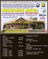 Pricelists of Belvedere Motel, Hostel, Backpackers and Restaurant