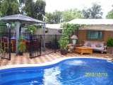 Pool area with hot 150jet outdoor spa
