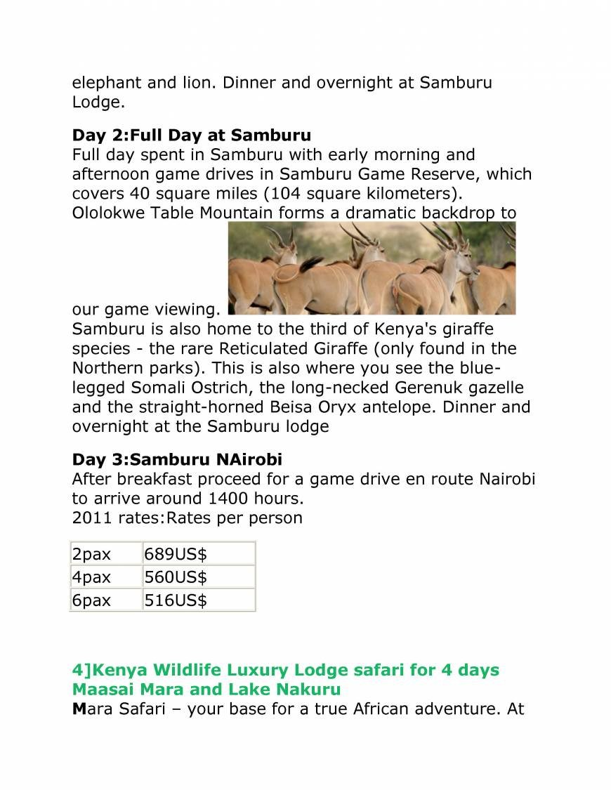 Pricelists of TWO STAR SAFARIS Mbagathi Road - Photo 28 of 29