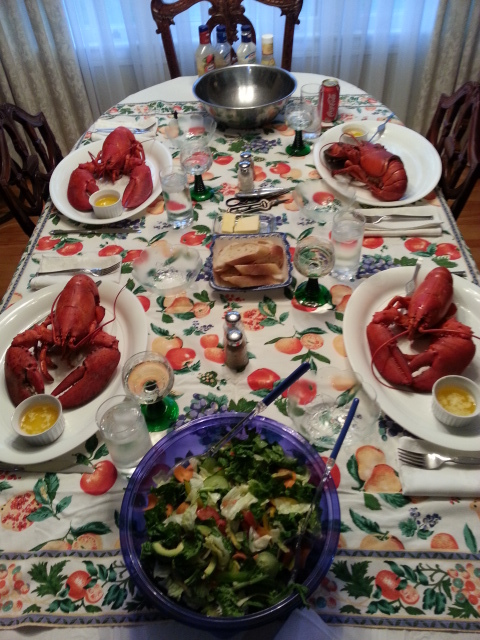 We do Lobster dinners, (in season, market price +) Minimum 2 day stay required. (We have to catch the little buggers first) :) Profile Photos of Harbour Tide Inn ~ Bed & Breakfast 725 Main Street - Photo 59 of 83