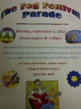 The #1 biggest event in the county each year. Labour Day week-end  Harbour Tide Inn ~ Bed & Breakfast 725 Main Street
