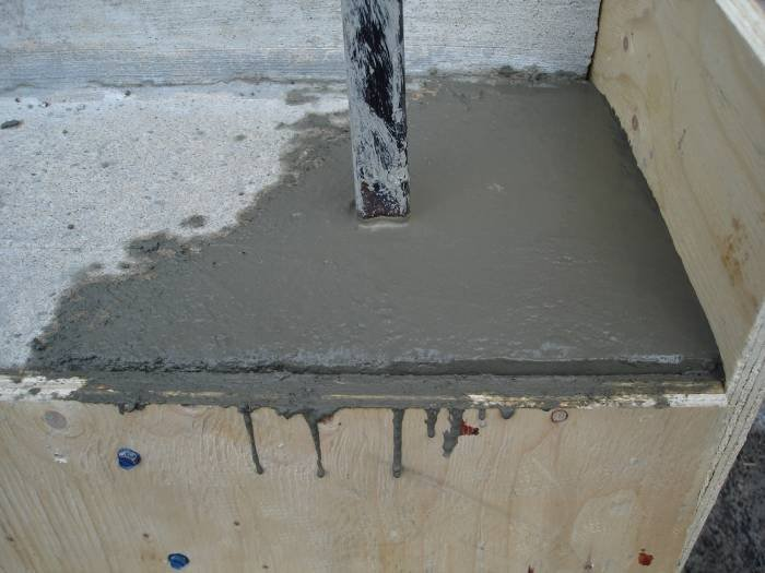 Broken concrete step corner re-inforced with drilled  Profile Photos of CDM ENTERPRISES INC. since 1992 2489 eighth line - Photo 13 of 15