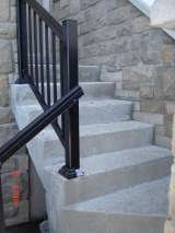 Concrete steps preped for resurfacing <br />  before pic. CDM ENTERPRISES INC. since 1992 2489 eighth line