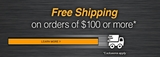 Free shipping available on orders