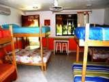 Orange dorm at Amigos Hostel Cozumel