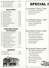 Pricelists of Golden Fry Fish Bar - Chinese Food to Take Away