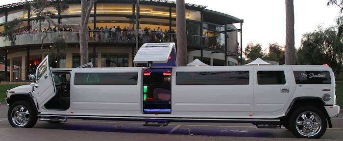 Showtime Limos Perth Exterior Shot Of The 16 Seater H210 Pearl White Jet Door Hummer Limousine : jet doors - Pezcame.Com