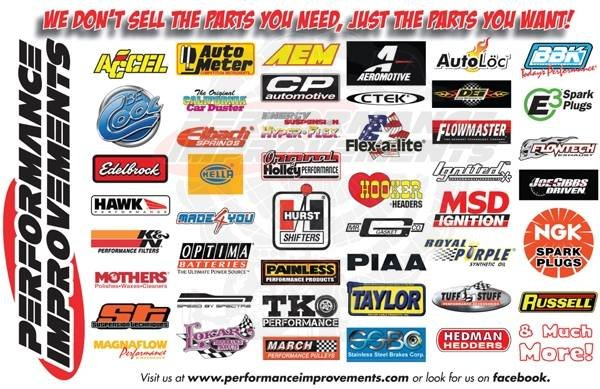 Some of the car parts Performance Improvements Barrie sells includes: Headers, exhaust, fittings, fuel cell, mufflers, supercharger, turbo, engine, intake, lowering springs, synthetic oil, tires  Profile Photos of Performance Improvements Barrie 422 Dunlop Street West - Photo 4 of 12