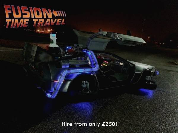 Pricelists of Delorean Hire - Hire a Delorean - Back To The Future Car Hire - Delorean Time Machine UK - BTTF Delorean Leeds - Photo 1 of 1