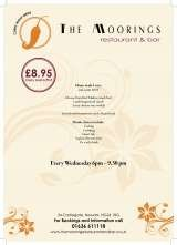 Pricelists of The Moorings Restaurant and Bar