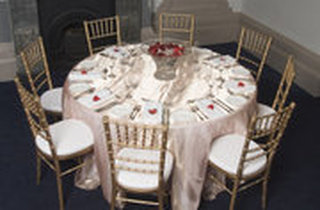 Affordable Chair Covers and Candelabras