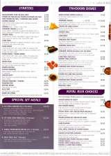 Menus & Prices, Royal Asia Tandoori Restaurant, Croydon