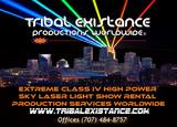 sky laser show rental civic event services by Tribal Existance Productions Worldwide