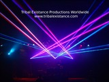 Concert tour stage laser light show rental production services by Tribal Existance Productions Worldwide