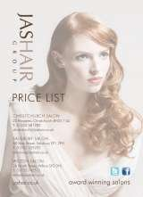 Pricelists of JAS Hair Salon Group