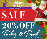 Pricelists of Highland Heritage Coach Tours
