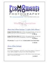 Pricelists of Promoments Photography