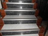 Asbestos floor tiles on stairs