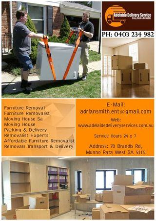 Adelaide Delivery Services    Home Furniture Removalist in Adelaide