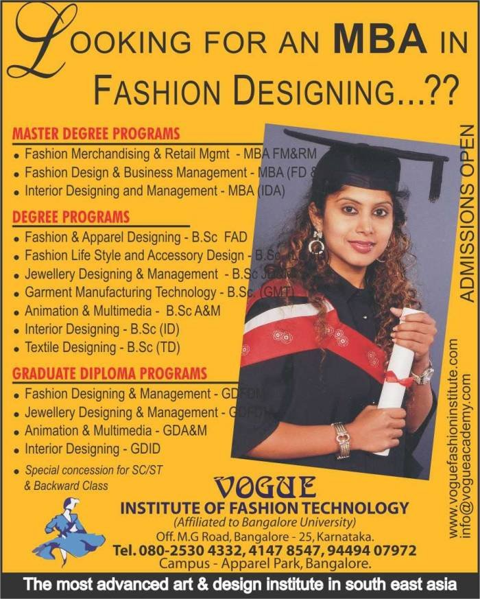1 Of 14 Photos Pictures View Vogue Institute Of Fashion Technology Profile Photos Bangalore