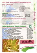 Pricelists of Natural Beauty Care - Home of Aloe Ferox
