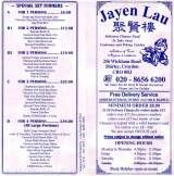 Pricelists of Jayen Lau Chinese Takeaway