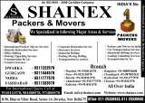 Welcome To Shainex International Packers and Movers AN ISO 9001:2008 Certified Company Complete Solutions. We are specialized in Packers and Movers, Relocation, Shipping Cargo and Air Cargo Excess baggage as Unaccompanied Baggage through cargo