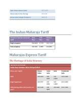 Pricelists of Indian Luxury Trains - Online Travel Agents for Luxury Train Travel in India