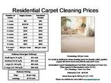 Pricelists of Angelo's Cleaning