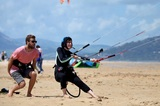 learn kite surfing