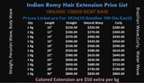 Pricelists of wavy remy hair extension