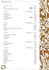 Pricelists of Mae Ping Thai Restaurant Wimbledon