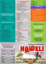 Pricelists of Haweli of Clapham